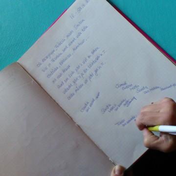 Gästebuch im Haus beim Sepp