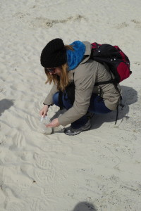 Bensersiel Sand packen