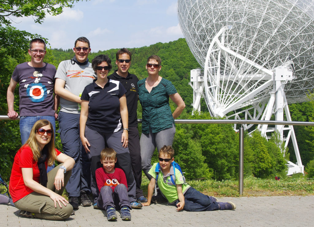 Grubbefoddo am Radioteleskop Effelsberg